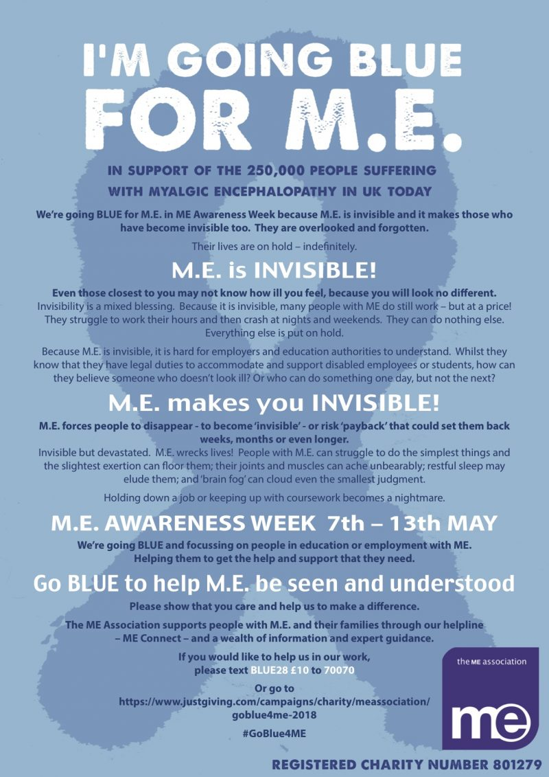 'i'm going blue for me' poster from me association