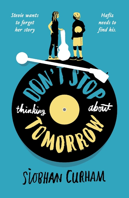 blue cover artwork of don't stop thinking about tomorrow by siobhan curran